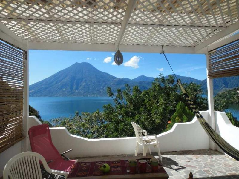 Bedroom Terrace - view from the bed! - The Sanctuary / San Marcos Lake Atitlan - San Marcos La Laguna - rentals