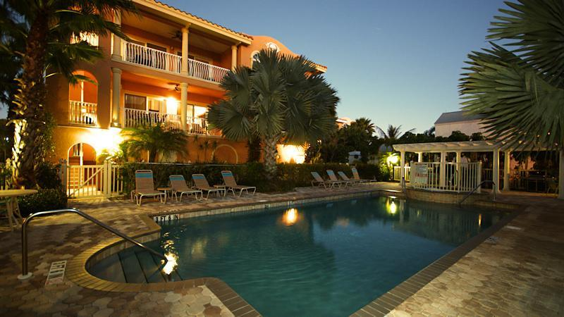 LaCasa Pool at Dusk - La Casa Costiera #12 Gulf View - Holmes Beach - rentals