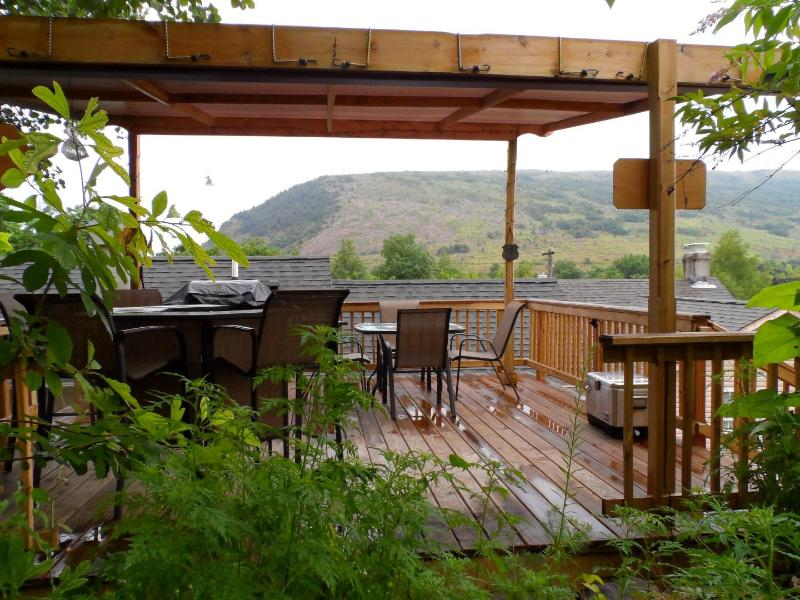 The Tree House Deck with Gas grille and seating for 8 - The Cottage @ Palmerton - Palmerton - rentals