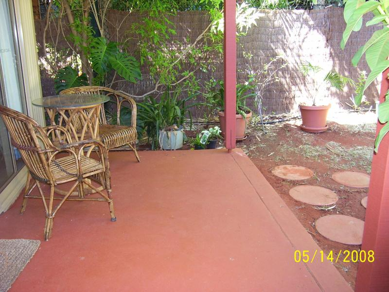 Back Patio - 1 bedroom sc unit in Cable Beach, Broome - Broome - rentals