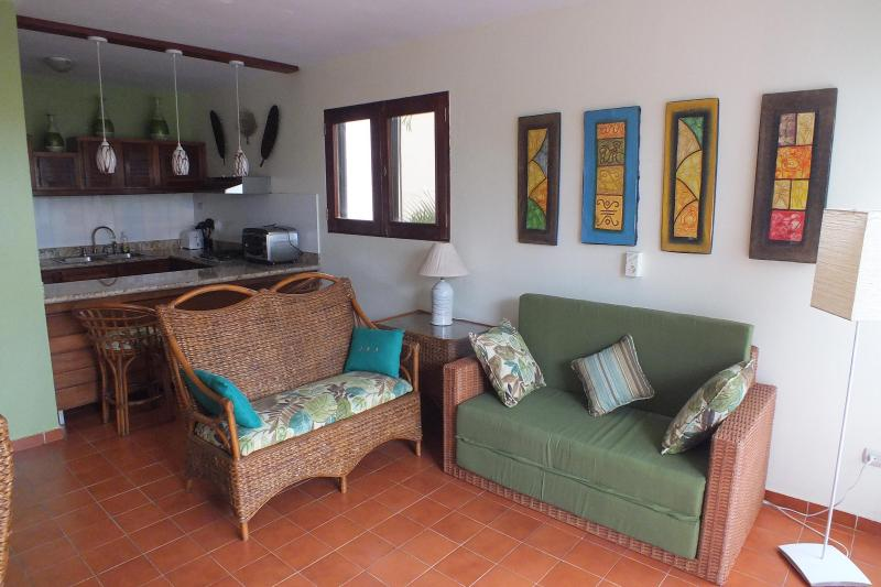 Living Room - One Bedroom Condo in the Exciting Center of Sosua - Sosua - rentals