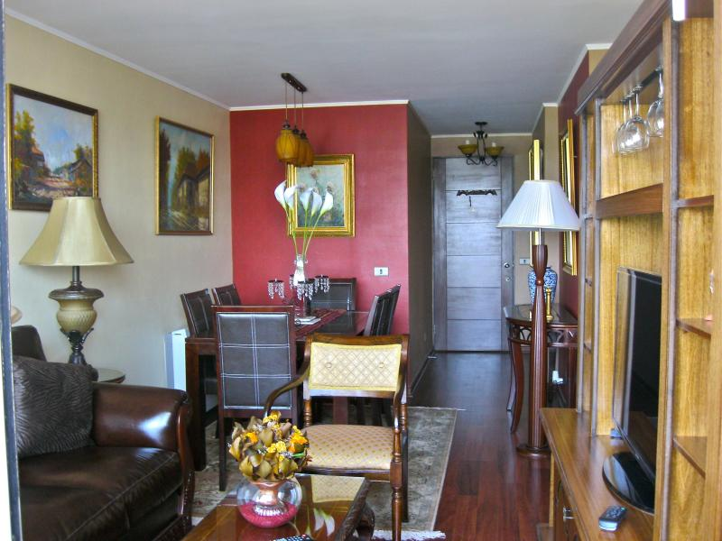 Dining Room and Living Room. - Riverview 2BD/2BA. FineArts/Park W/2 cell phones!! - Santiago - rentals