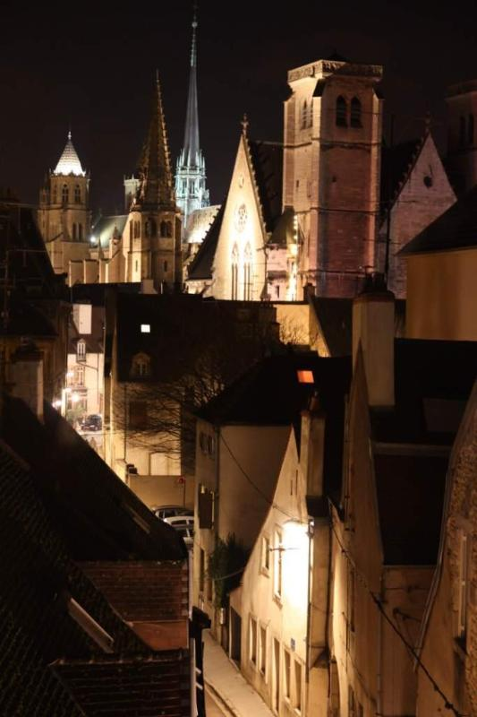 Night time view from the dining lounge and main bedroom. - Newly listed 2 bed apartment Dijon views - Dijon - rentals