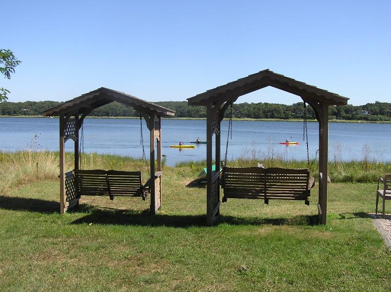 relax on our swings - Cove House Cape Cod cottage on the town cove - Orleans - rentals