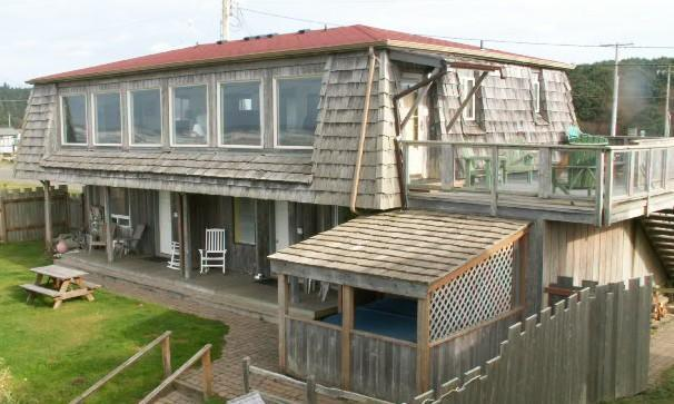 Ocean Side of Beach House, Unit #1 is at lower deck to the right - Beach House Unit #1 (south end) - Moclips - rentals
