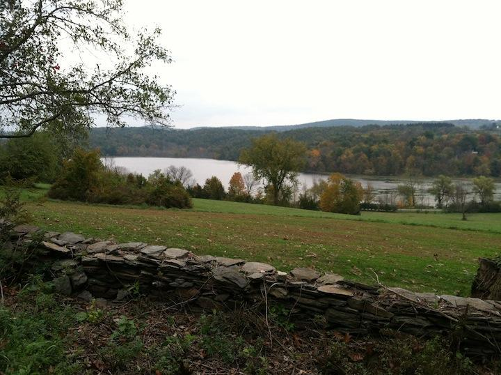 view of mudge pond from the hiking trail behind the house - Berkshire Foothills Three Bedroom House Getaway! - Sharon - rentals
