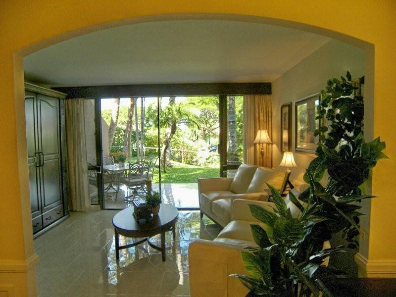 "Garden view from living room - ""  AFFORDABLE LUXURY,  BEST BEACH,  BEST RATE "" - Kihei - rentals"