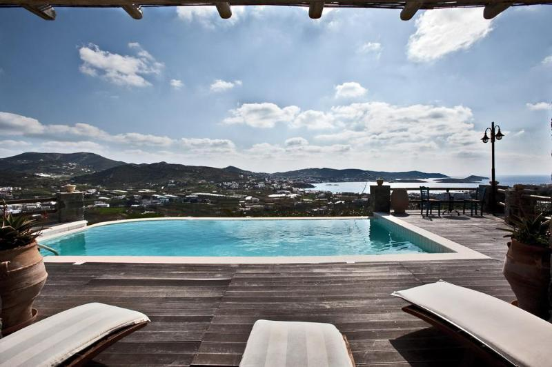 Sunbeds by the pool. - Syros Passion Villa of the Divine Villas - Syros - rentals