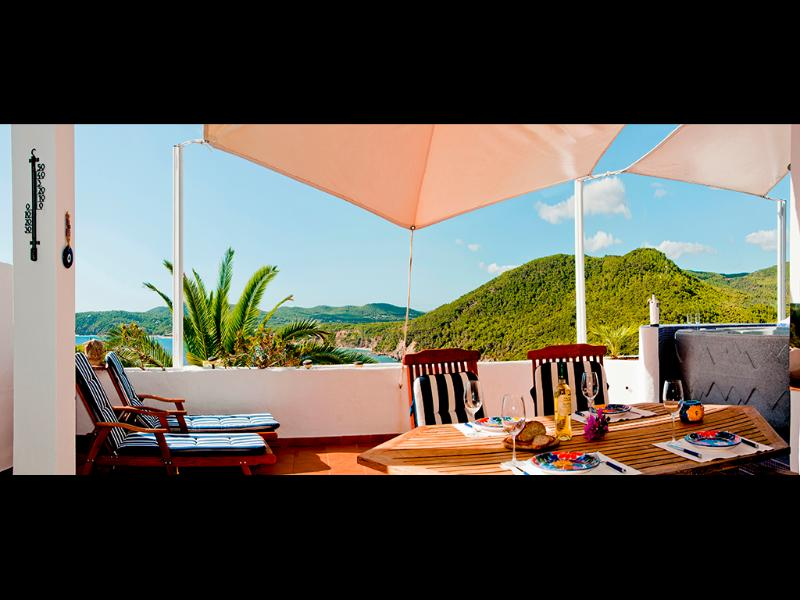 terrace with sea and beach views - Vista la playa, near the beach: rent and for SALE - Ibiza - rentals