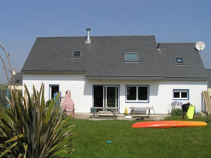 south facade from the garden - AUDIERNE' BAY s heart,  wood house 10 persons - Plovan - rentals