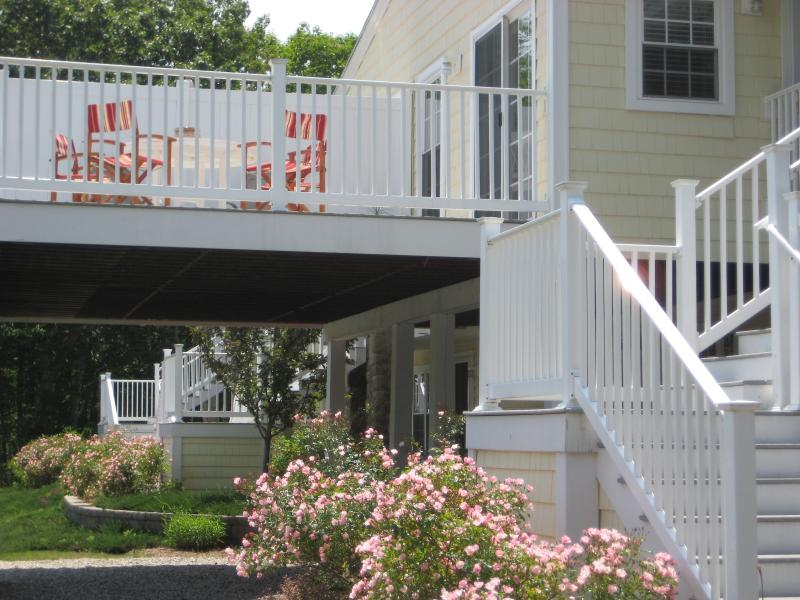 Enjoy the Maine Fresh air on this wonderful deck - The Resort At Goose Rocks in Kennebunkport, Maine - Kennebunkport - rentals
