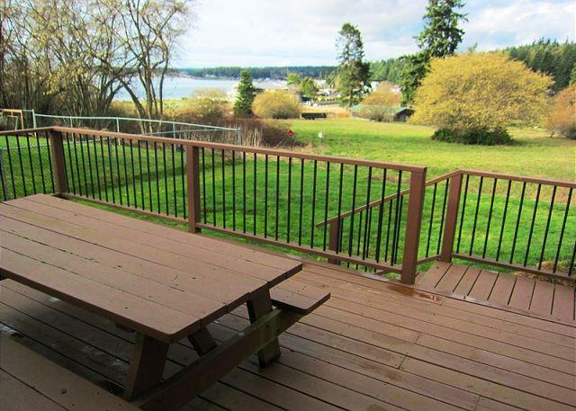View from deck - Meticulous 2009 remodeled dollhouse with views of Mutiny Bay - Freeland - rentals