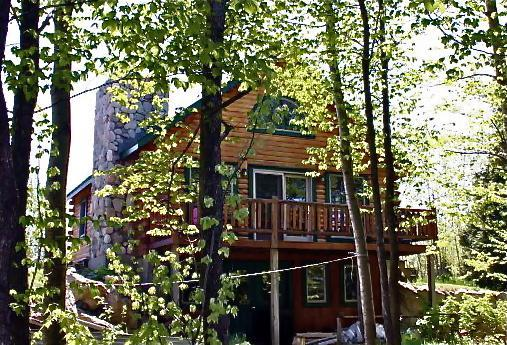 View of cabin from lake - Cozy log cabin on Lake Champlain in Vermont - Alburgh - rentals