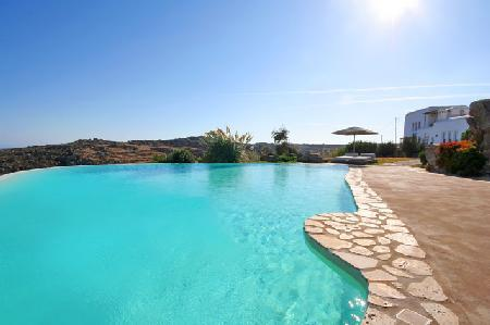 Nestled on a hilltop Infinity with 360° sea views & infinity pool, near beach - Image 1 - Mykonos - rentals