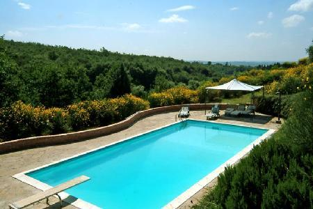 Marvelous Villa Canneto with superb views, gardens and shared tennis court - Image 1 - Siena - rentals