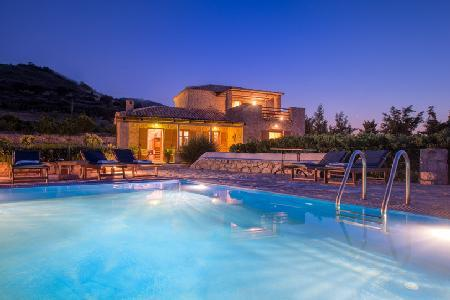 Traditional stone house Villa Purple in gated community with private pool & sea access - Image 1 - Agios Nikolaos - rentals