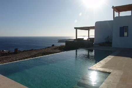 Pelicanos with memorable 180° sea views & secluded terrace with infinity pool - Image 1 - Pyrgi - rentals