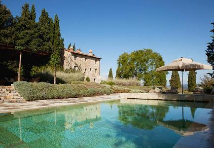 Villa Castello has amazing views of medieval castle ruins, pool and garden - Image 1 - Montalcino - rentals