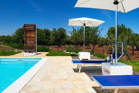 Trullo Ramachandra - Charming villa with pool, ocean view, close to towns & activities - Image 1 - Carovigno - rentals