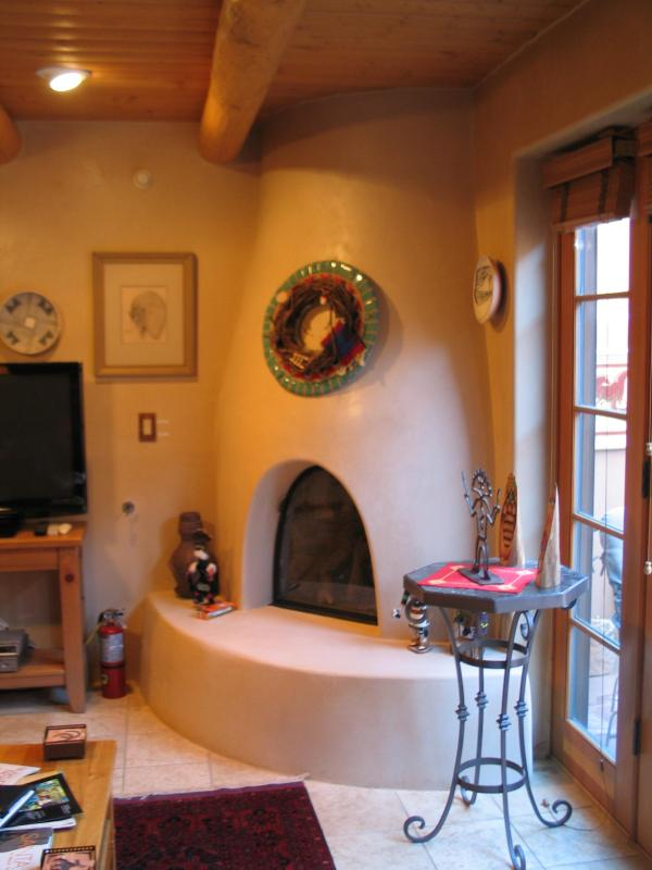 Kiva fireplace which is gas log - The best downtown location in Santa Fe! - Santa Fe - rentals
