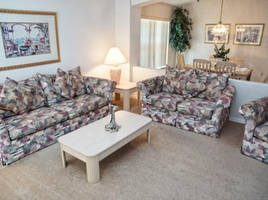 Living Area - EP4P699EPS Nicely-fitted Villa in Kissimmee with Private Pool - Kissimmee - rentals