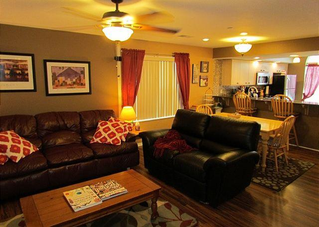 Living Room - Fort Taneycomo- Updated 2 bedroom 2 bath condo located at Fall Creek Resort - Branson - rentals