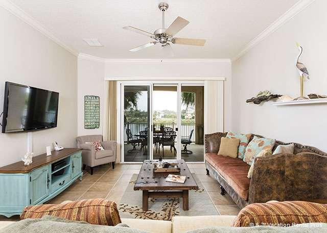 Great views don't stop when you're indoors at the condo! - 924 Cinnamon Beach, 2 Heated Pools, Tile Floors, Wifi, Spa - Palm Coast - rentals