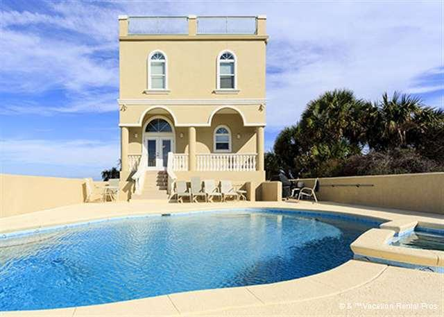 Wave Watch offers an oceanfront pool and 4th floor roof deck! - Wave Watch Beach house, 6 bedrooms, private pool, stunning views - Saint Augustine - rentals