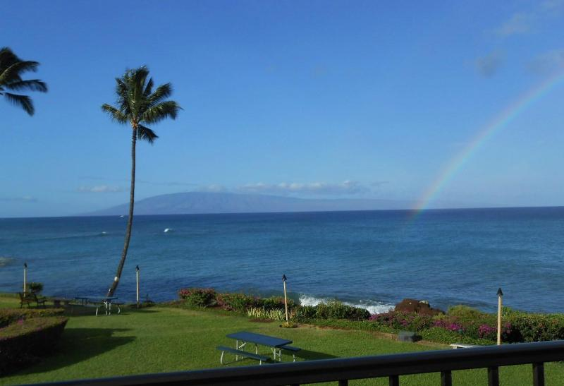 Your fabulous view from the condo.  - WOW! Ocean FRONT. Panoramic views. 2 King beds - Lahaina - rentals
