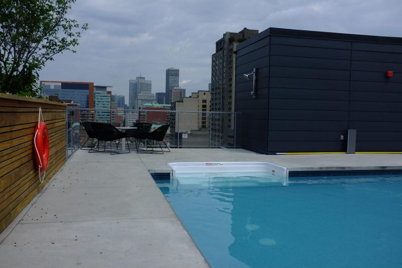 Swimming pool on terrace - New fully-furnished apt for rent downtown Montreal - Montreal - rentals