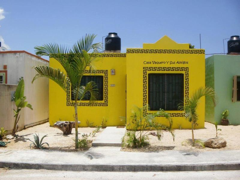 Front view of property - Casa Vaquero Y Sus Amigos, Near Akumal and Tulum - Akumal - rentals