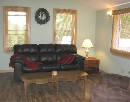 Living room has queen sofa-bed - Carmel Loft near Jay Peak, Vermont - Jay Peak - rentals
