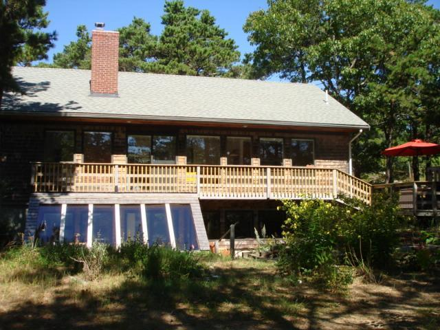 Sunny side of home deck to side - Contemporary convenient to town village-Internet - Wellfleet - rentals