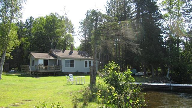 Cabin view from edge of shore - Lake side cabin 50 feet from clean spring fed lake - Brimson - rentals