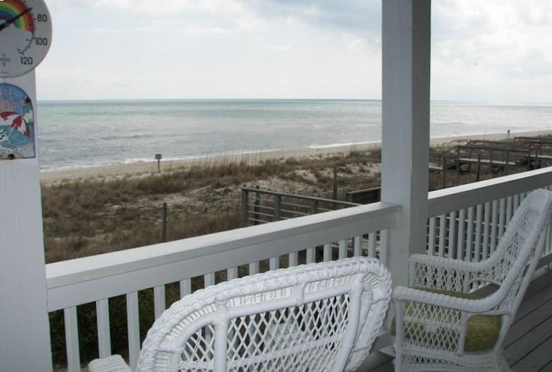 Sit and relax to the sounds of the surf and the ocean breezes - OCT-NOV SALE: 3000sft Gorgeous Oceanfront House - Kure Beach - rentals