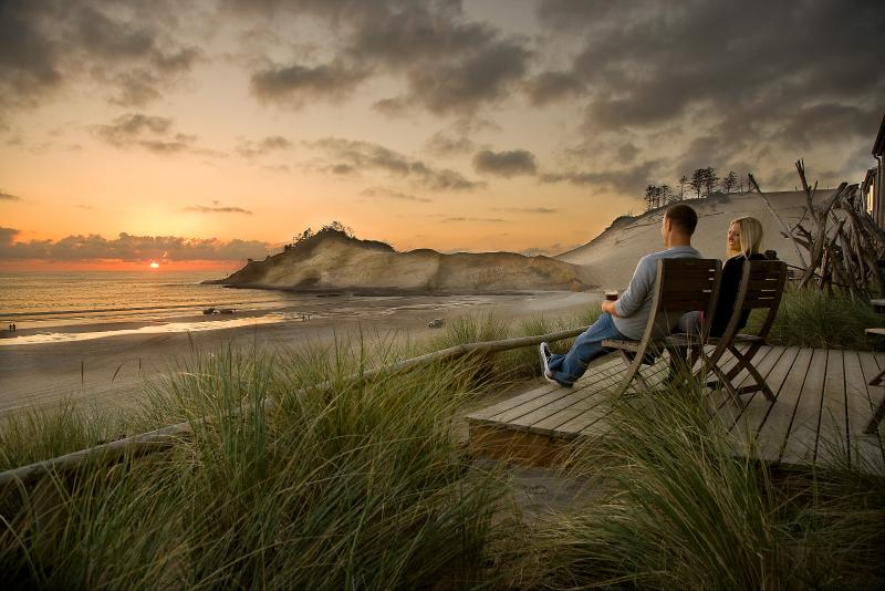 Your view from your private deck - Luxury Ocean-front Suites on the Oregon Coast... - Pacific City - rentals