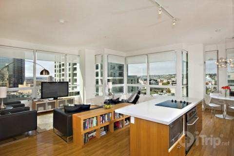 City views from this modern living area - Luxury and Stunning Views in Downtown San Diego - San Diego - rentals
