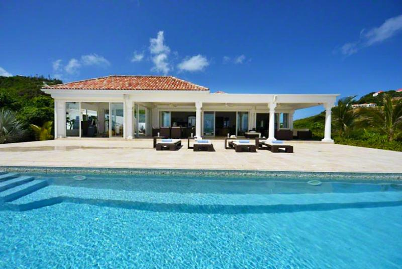 St. Martin Villa 91 Where The Turquoise Caribbean Sea Waters And The Clear Blue Sky Are Only Separated By The Island Of Anguilla Emerging In The Far Horizon. - Image 1 - Terres Basses - rentals