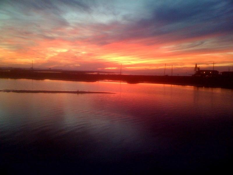 From our back deck on the water - Sunset Paradise - Galveston - rentals