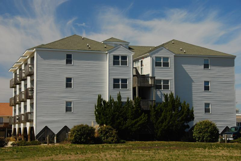 Station One Exterior Taken From the Beach Road - Station One 2-A, Decked Out 2 Bedroom Condo - Kill Devil Hills - rentals