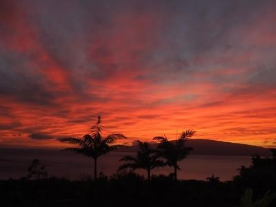 Breath taking sunsets. Picture taken from the lanai. - Breathtaking Sunsets - Lahaina - rentals