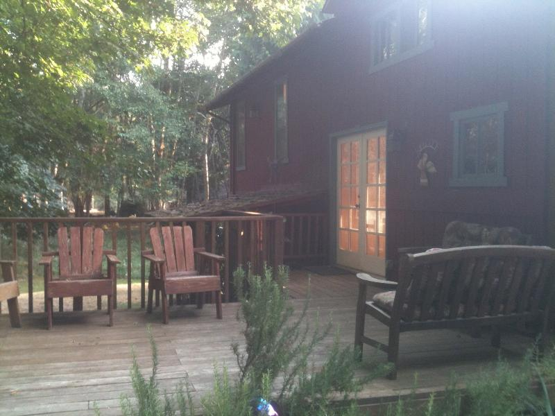 East deck in the front of the cabin - Herron Island Cabin - Pet Friendly - Gig Harbor - rentals