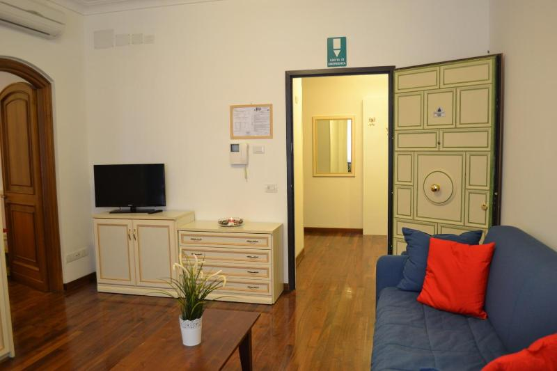 huge living room - Vatican St Peter, BIG APARTMENT up to 9 people,  WIFI, SAT TV, air conditioning, garage - Rome - rentals