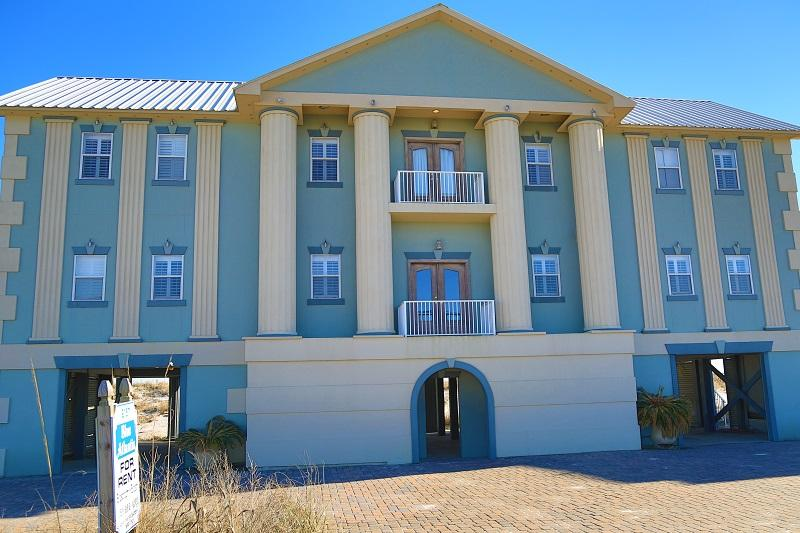Entrance - Luxury Blue Atlantis House - Gulf Front - Gulf Shores - rentals