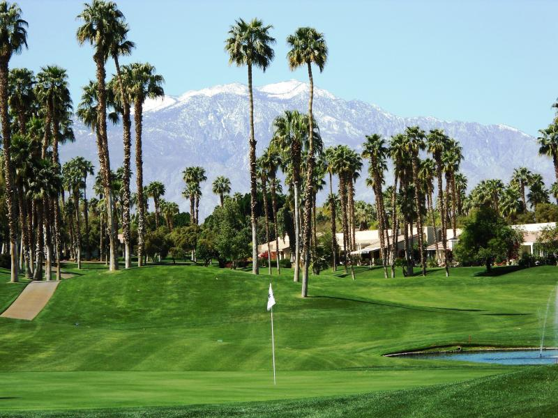 View from Patio Winter - Palm Valley CC Mountain and Golf Course Views - Palm Desert - rentals