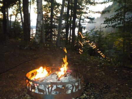 Fire Ring for hot dog roast or smoores - Indian Lake Tuckaway-Musky & Bass-Eagle River - Eagle River - rentals