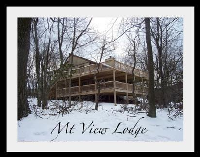 Mt View Lodge in Winter - Mt. View Lodge - Lake Harmony - rentals