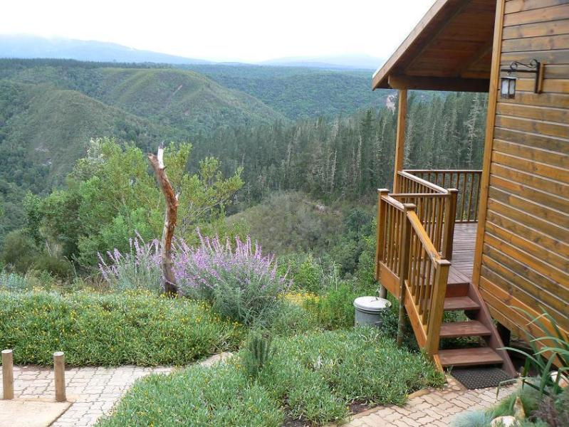 The entrance to Cliffhanger Chalet, overlooking the valley. - The Cliffhanger Cottage - Knysna - rentals