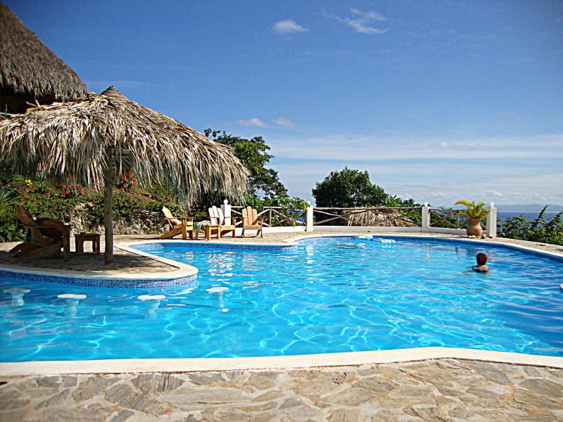Pool area with oceanview - Casitas Lomar  Oceanview-Residence Classic B&B - Las Galeras - rentals