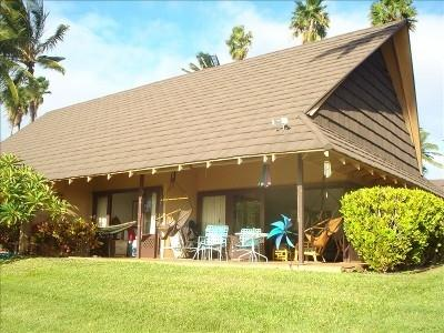 West facing lanai - Quiet Beachfront Cottage - Kaluakoi Point - rentals